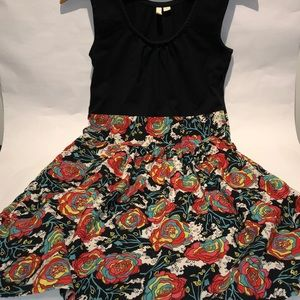 Frenchi solid/floral Dress